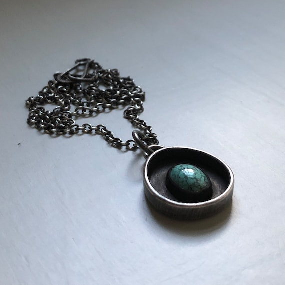 Handmade Turquoise and Sterling Silver Necklace