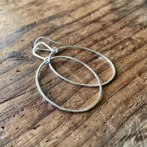 Simple Handmade Sterling Silver Hoop Earrings