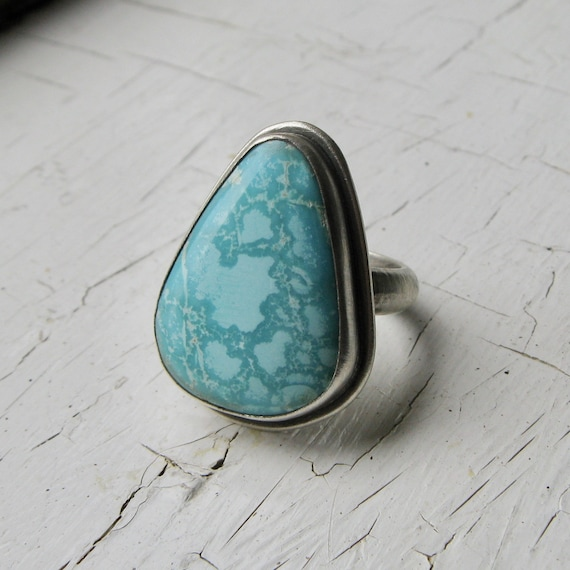 American Turquoise and Sterling Silver Statement Ring