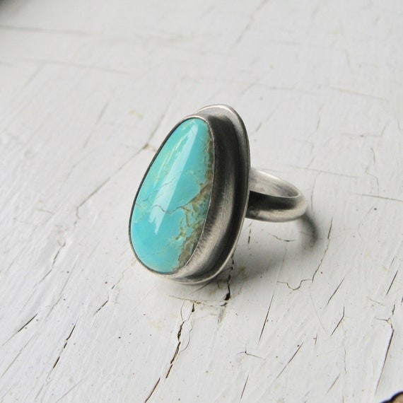 American King's Manassa Turquoise and Sterling Silver Statement Ring