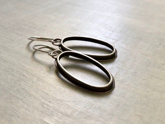 Medium Handmade Sterling Silver Grommet Series Earrings