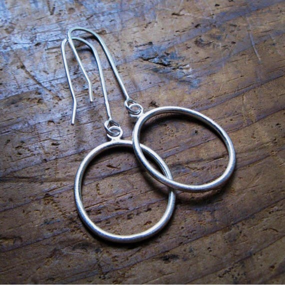 Medium Drop Circle Earrings