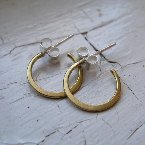 Tiny 18k Gold Hoop Earrings