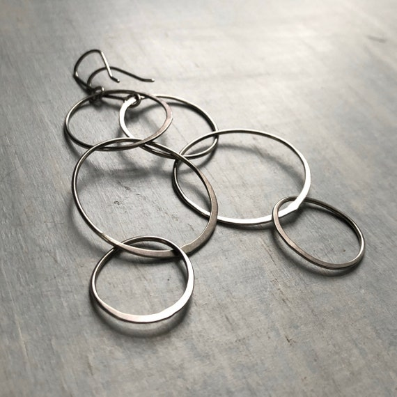Handmade Lightweight Sterling Silver Big Loopy Earrings