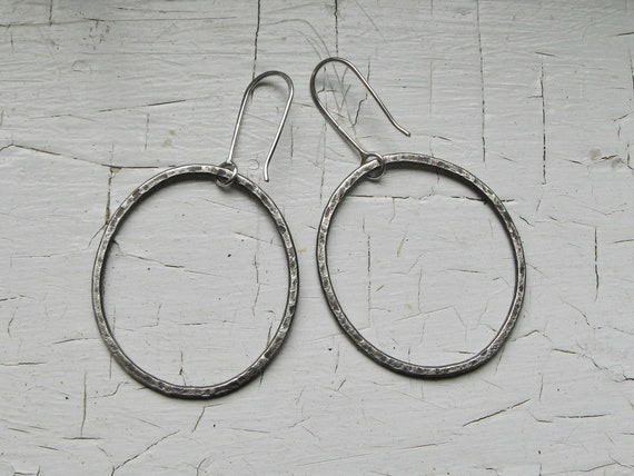 Large Organic Granite Hoops