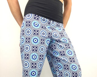 Funky Circles - 100% Cotton Flannel - High Waistband - Party Pajamas by So-Fine