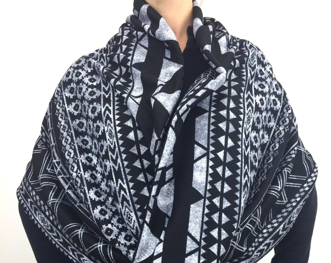 Aztec Black Sweater Knit ~ Double-Decker Infinity by So-Fine