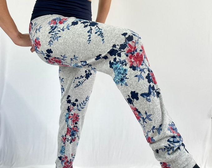 Butterfly Blooms Sweater Knit Pants - Sublime
