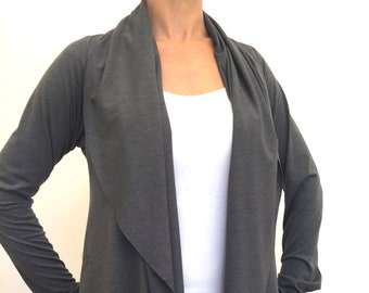 Grey Comfy Cozy ~ Cardigan by So-Fine