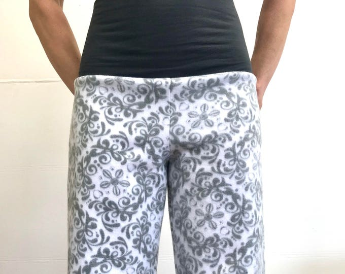 Grey Paisley- High Waistband in Bamboo- Party Pajamas by So-Fine