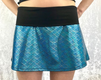 Mermaid Blue Sparkle Skirt by So-Fine