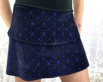 Blue Sparkle Mandala print with Bamboo waistband by So-Fine