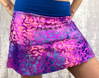 Purple Sparkle Flames with Bamboo waistband by So-Fine