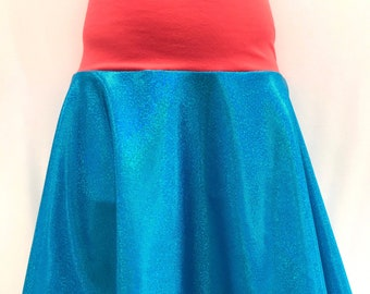 Ocean Blue Sparkle Spunky Twirl