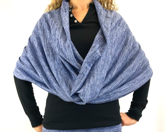 Heather-Blue - Sweater-Knit ~ D.D Infinity