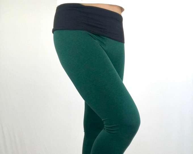 Lucky Green Bamboo Terry Leggings