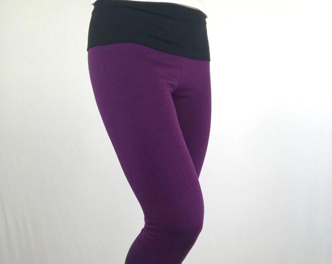 Pleasant Purple Bamboo Terry Leggings