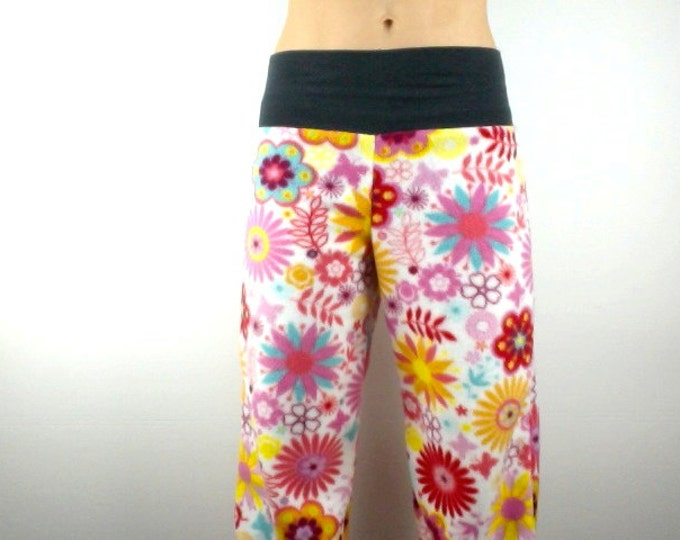 Funky Floral w Charcoal Grey Bamboo Party Pyjamas Pants by So-Fine