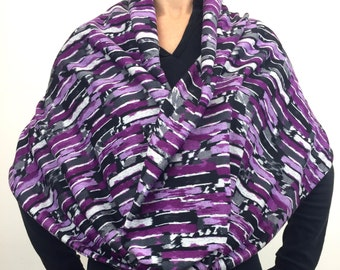 Purple Abstract Sweater Knit ~ Double-Decker Infinity by So-Fine