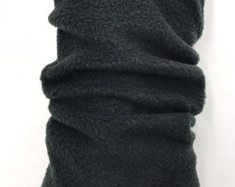 Black Fleece Cozy Leg Warmers