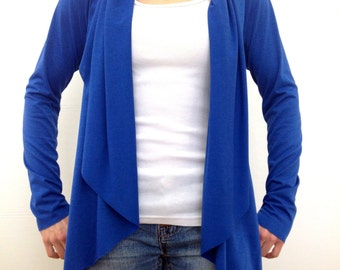 Comfy Cozy Cardigan ~ Royal Blue by So-Fine
