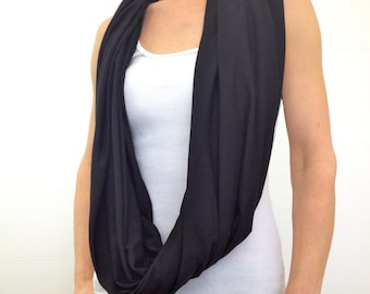 Double-Decker Infinity Scarf~ Black by So-Fine