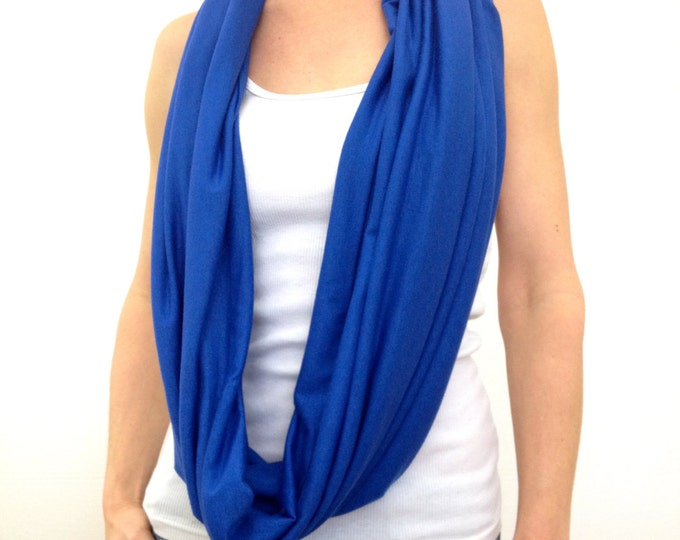 Double-Decker Infinity Scarf ~ Royal Blue by So-Fine