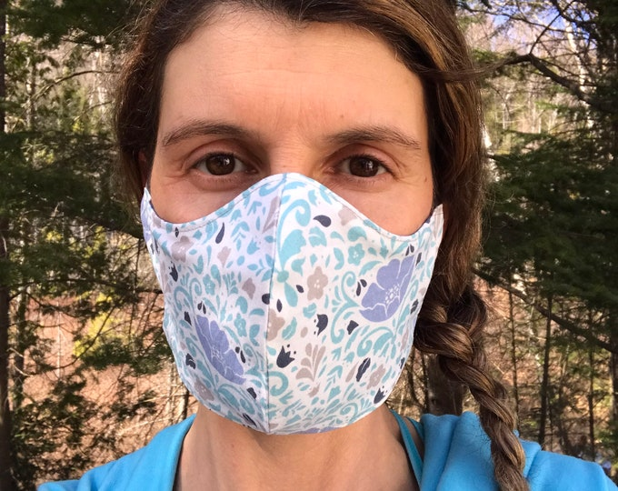 So-Fine® Mask - Spring Floral & Blue-Grey