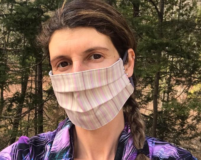 Quick Trip Mask - Spring Stripes & Floral