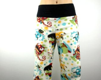 Marvellous Monsters w Black Bamboo Party Pyjama Pants by So-Fine