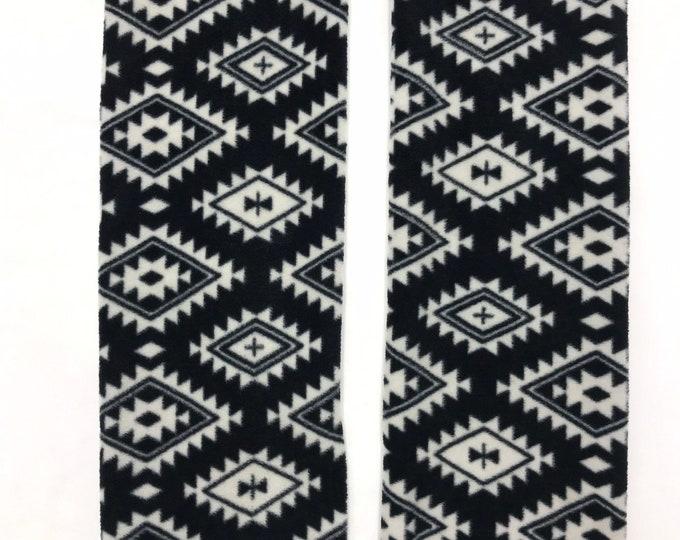 Aztec print Fleece Cozy Leg Warmers