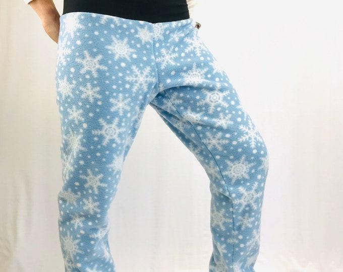 Frosty Blue Snowflake Fleece - Sublime pants by So-Fine