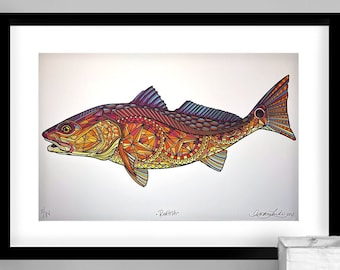 Archival Sunset Redfish Limited Edition Gicleé Print 11x17