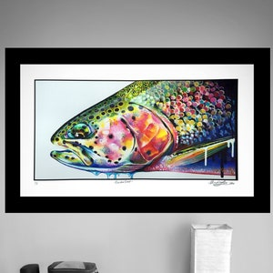 Archival Apache Trout Limited Edition Giclee Print 11x17