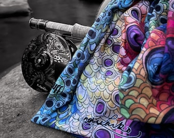 Artist Series Rainbow Trout Flank Original Buff Neck Gaiter