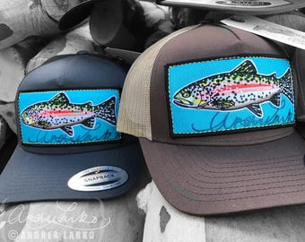 DISCONTINUED Embroidered Rainbow Trout Patch Hat
