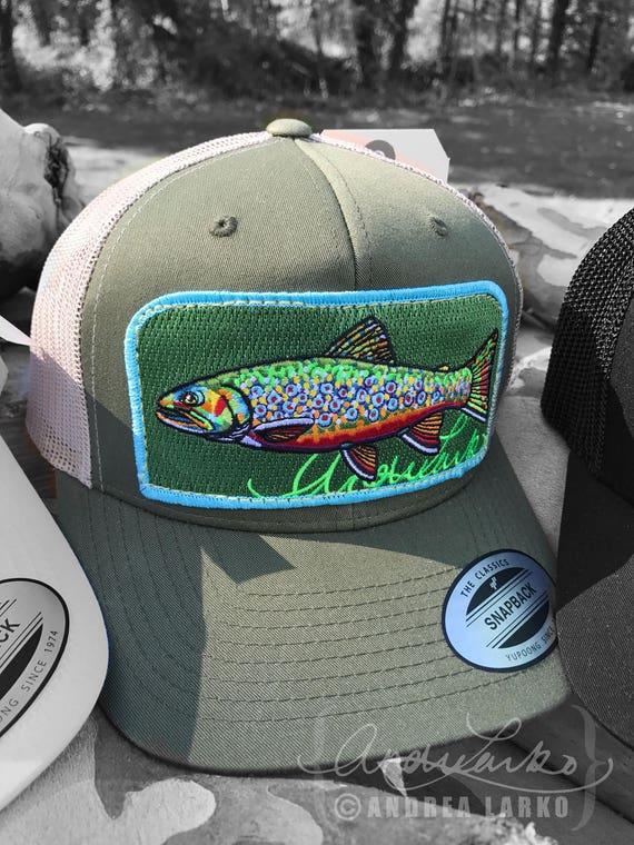d569b9335 Embroidered Brook Trout Patch Trucker Hat