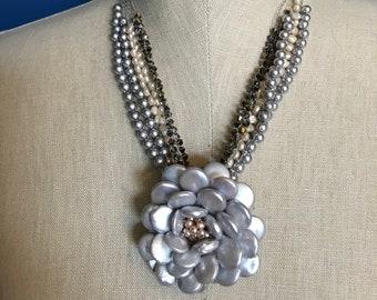 Lilian, Wire Crochet Necklace