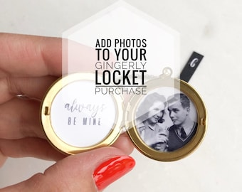 Add photos to your locket purchase, message locket, customized jewelry, personal jewelry, keepsake, Christmas gift her