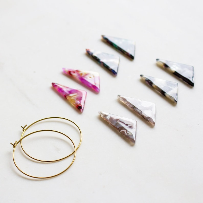 Triangle hoops bold statement earrings choose one style mix image 0