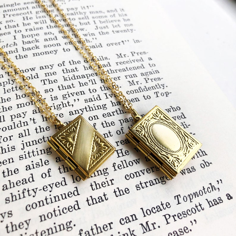 Book Locket Teacher Gift for Christmas Personalized Gift for image 0