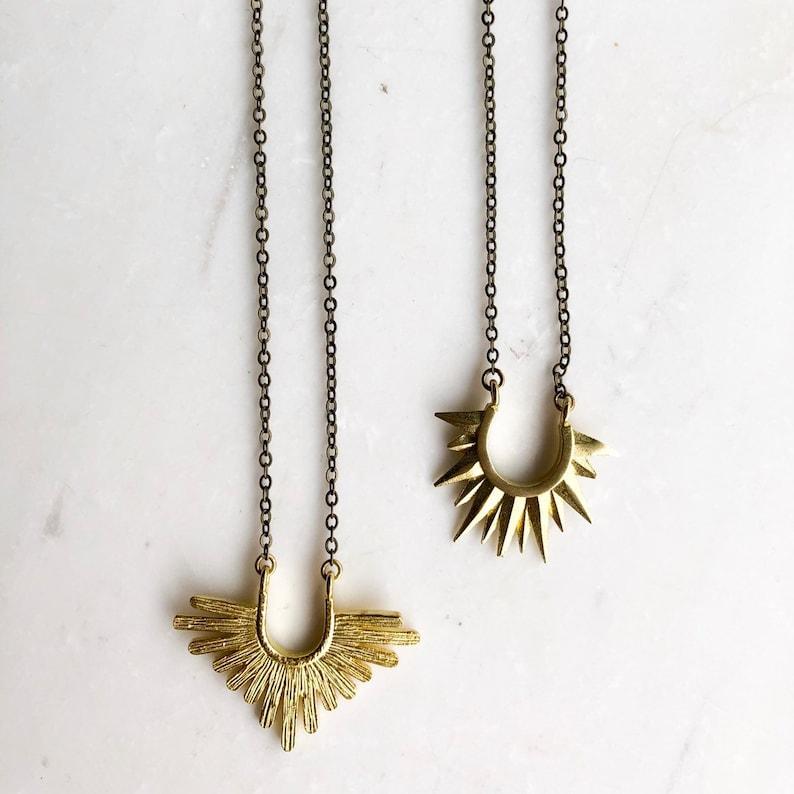 Starburst Necklace Choose one boho layering necklacr sun image 0