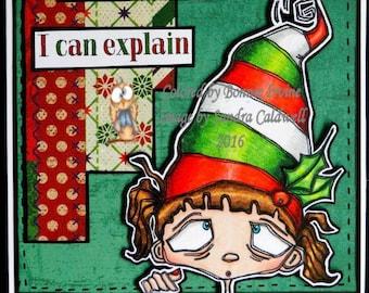 1128 Grandmas Lil Elf Digi Stamp