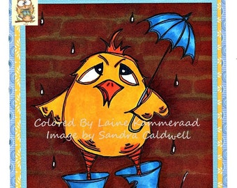 955 Wet Chick Digi Stamp
