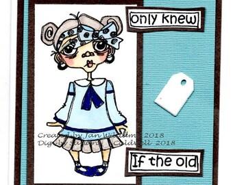2009 Old Lady School Gal Digi Stamp