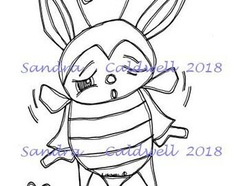 2211 Bee a Bunny Digi Stamp