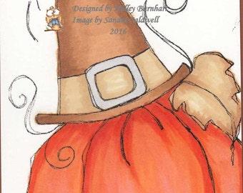 776 Pilgrim Pumpkin Digi Stamp