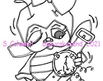 3738 Bee Lated Digi Stamp