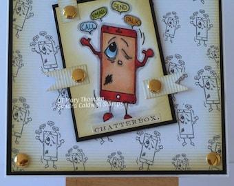 2158 I Am  Phone Digi Stamp