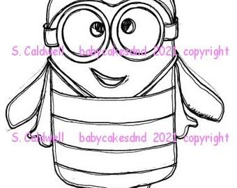 3740 Bee a Minion Digi Stamp